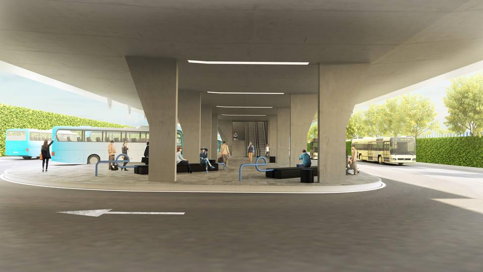 Imagen de la estación de buses