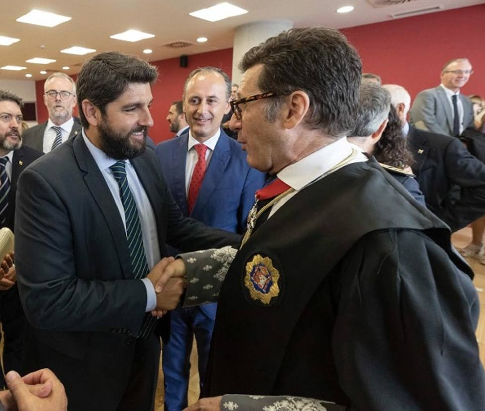 Fernando López Miras durante la apertura del año Judicial