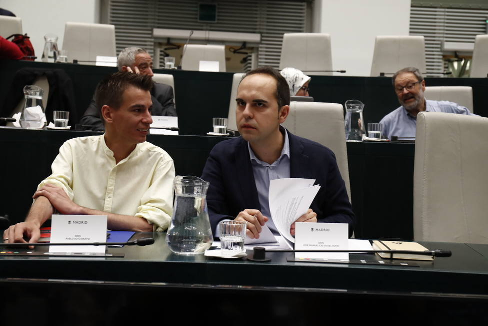 El concejal de Más Madrid Pablo Sotodurante un pleno en el Ayuntamiento