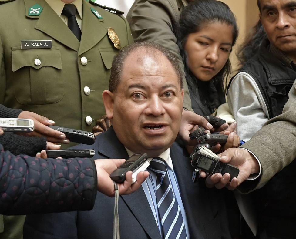 El ministro del Interior alerta de un posible ataque con dinamita contra el TSE en el marco de las protestas