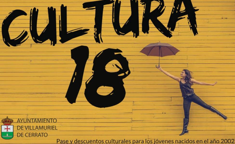 El área de Cultura del Ayuntamiento de Villamuriel presenta el Carné Cultura 18