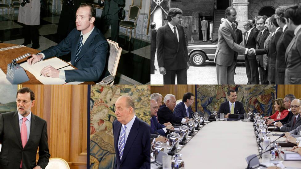 Los Consejos de Ministros presididos por el Rey desde la Transición hasta hoy