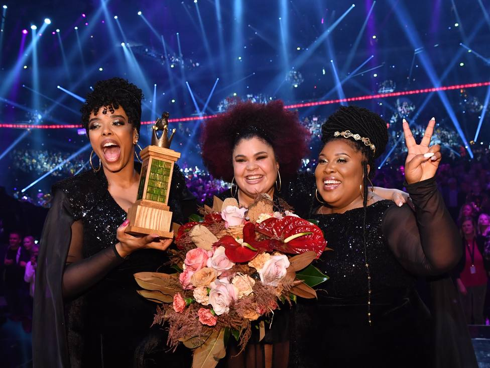 The Mamas, muy sonrientes tras su victoria en Eurovisión 2020