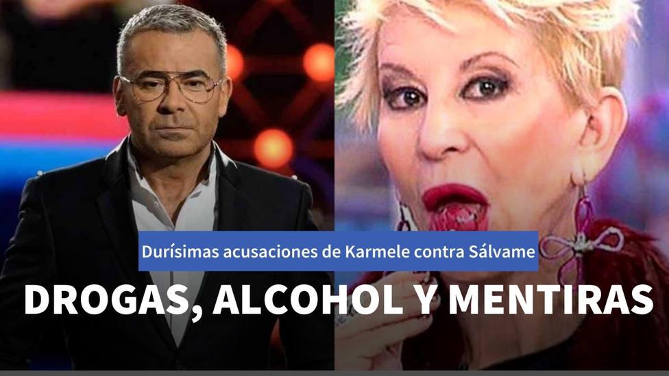Drogas en camerinos, alcohol y mentiras: las duras acusaciones de Karmele contra Sálvame