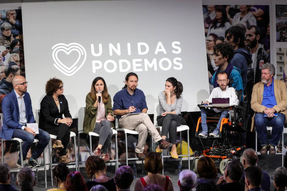 Presentación del programa electoral de Unidas Podemos para el 10N en Madrid