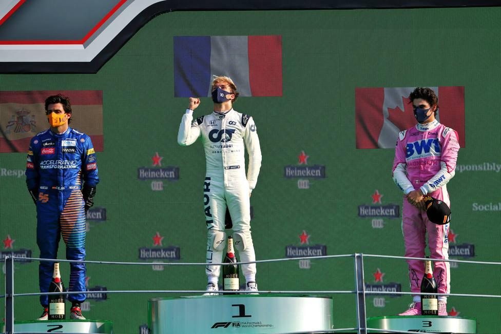 Un gran Carlos Sainz acaba segundo en Italia, solo por detrás de Pierre  Gasly - Fórmula 1 - COPE