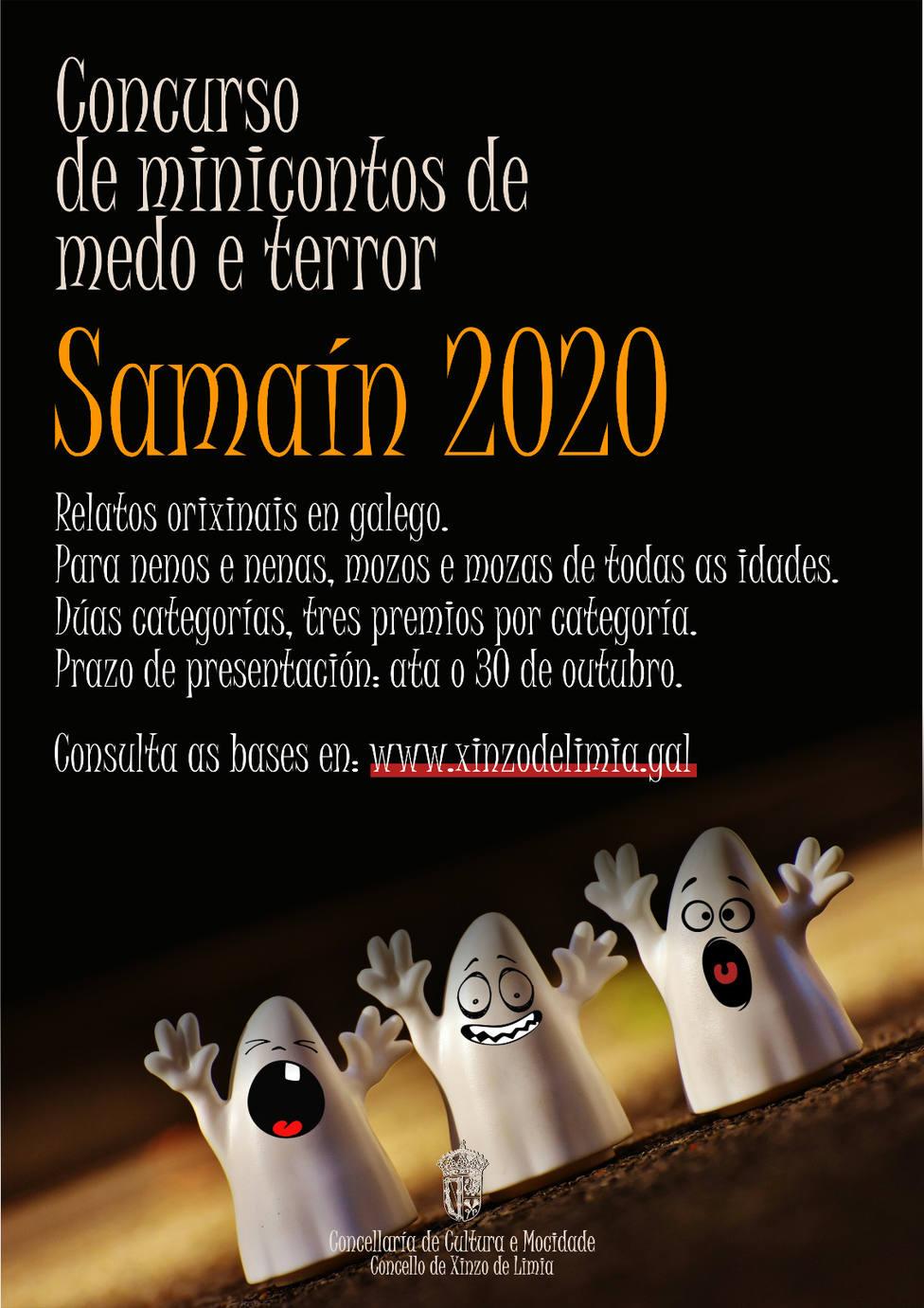 Cartel concurso de mini cuentos Samaín 2020