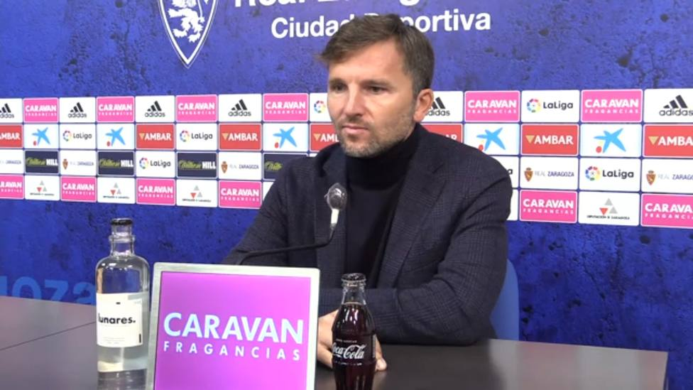 Lalo Arantegui. Rueda de prensa. Real Zaragoza
