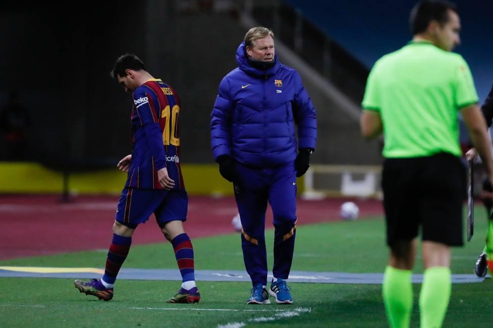 Primera expulsión de Messi como jugador del Barcelona (@RFEF)