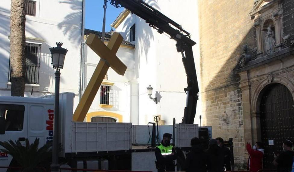 La Vera Cruz de Valladolid convoca un acto de desagravio tras el derribo de la cruz en un pueblo de Córdoba