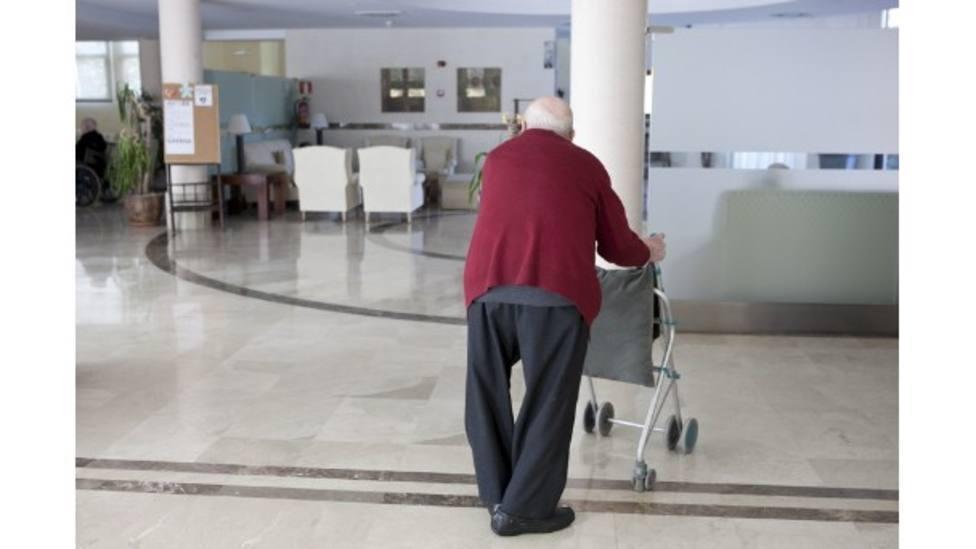 Usuario de una residencia de mayores