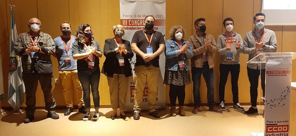 Víctor Ledo con los integrantes de sus nueva ejecutiva - FOTO: Cedida