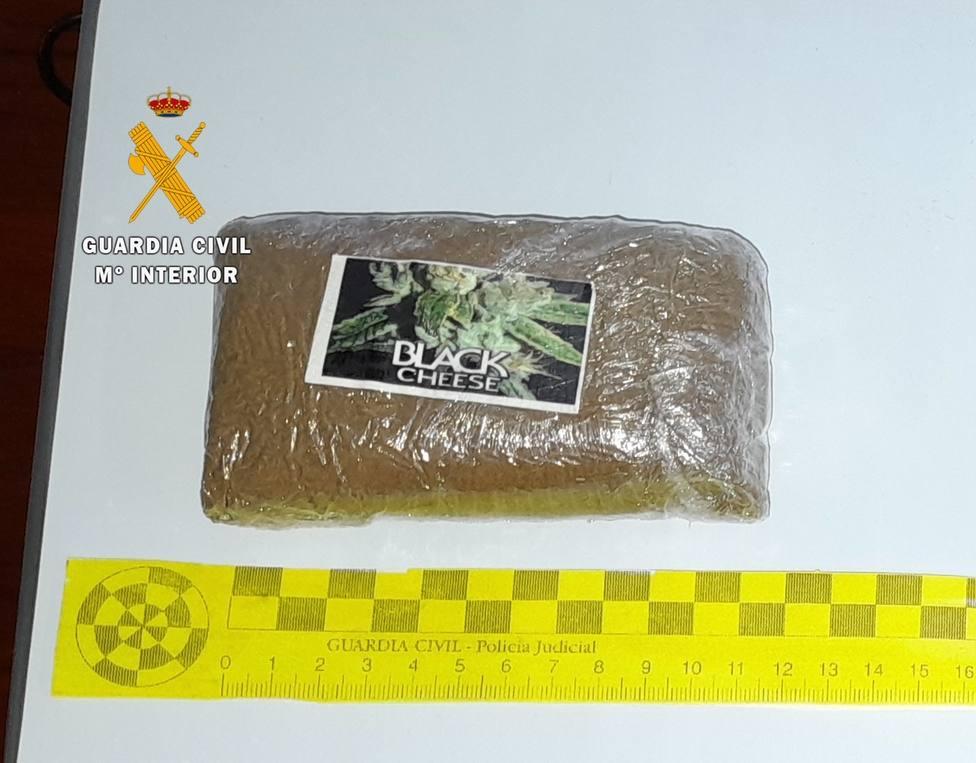 Droga incautada por los agentes en Trujillo