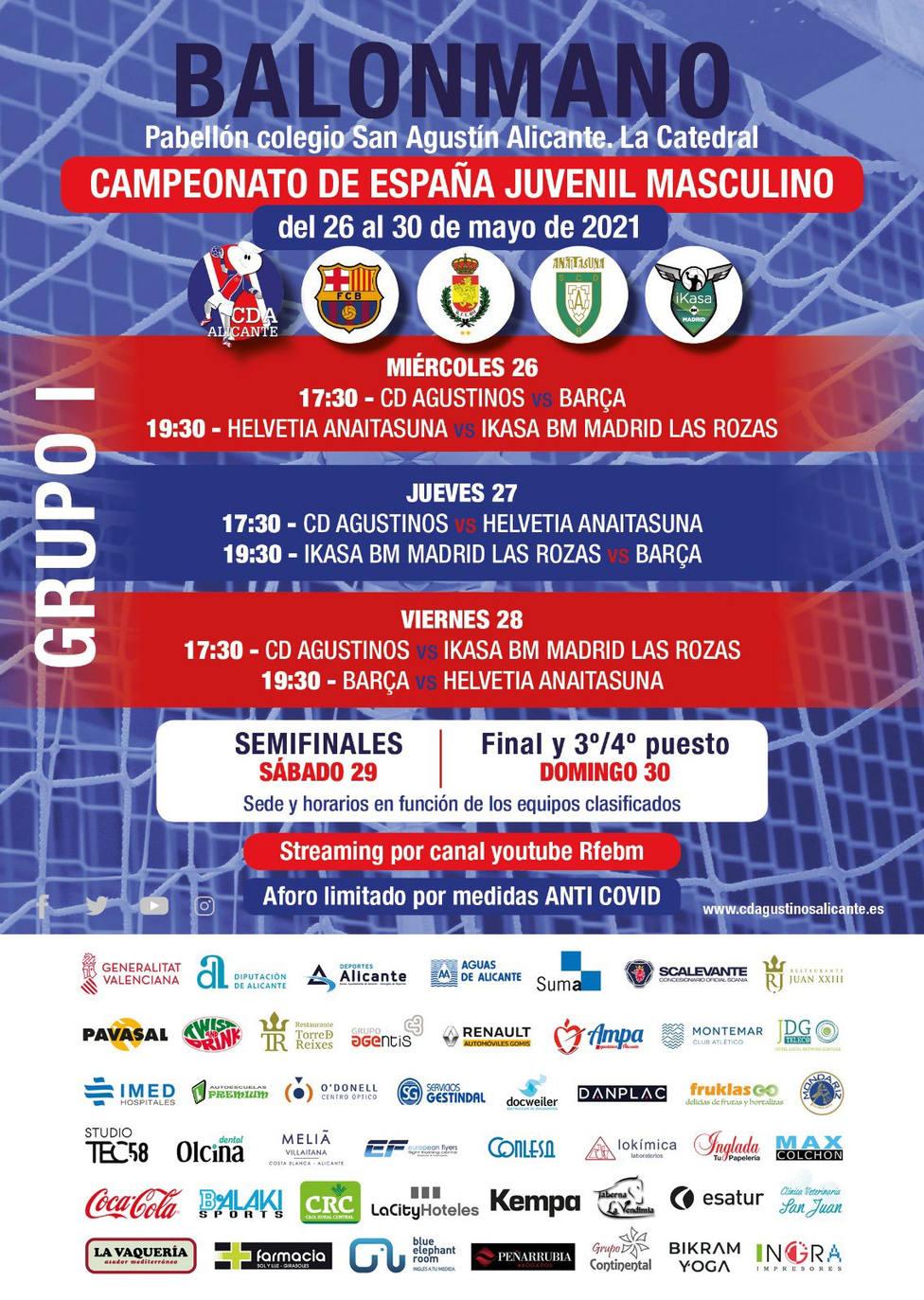 Alicante acoge la Fase Final del Campeonato de España de balonmano juvenil
