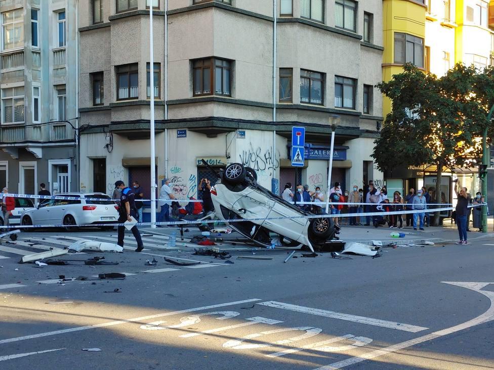 Accidente en la calle Caballeros (Imagen: EloyTP)