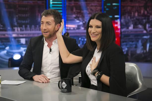 Laura Pausini se deshace en elogios hacia Alejandro Sanz... y hacia Pablo Motos