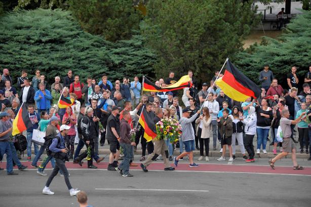 Protestas de ultraderechistas en la ciudad alemana de Chemnitz