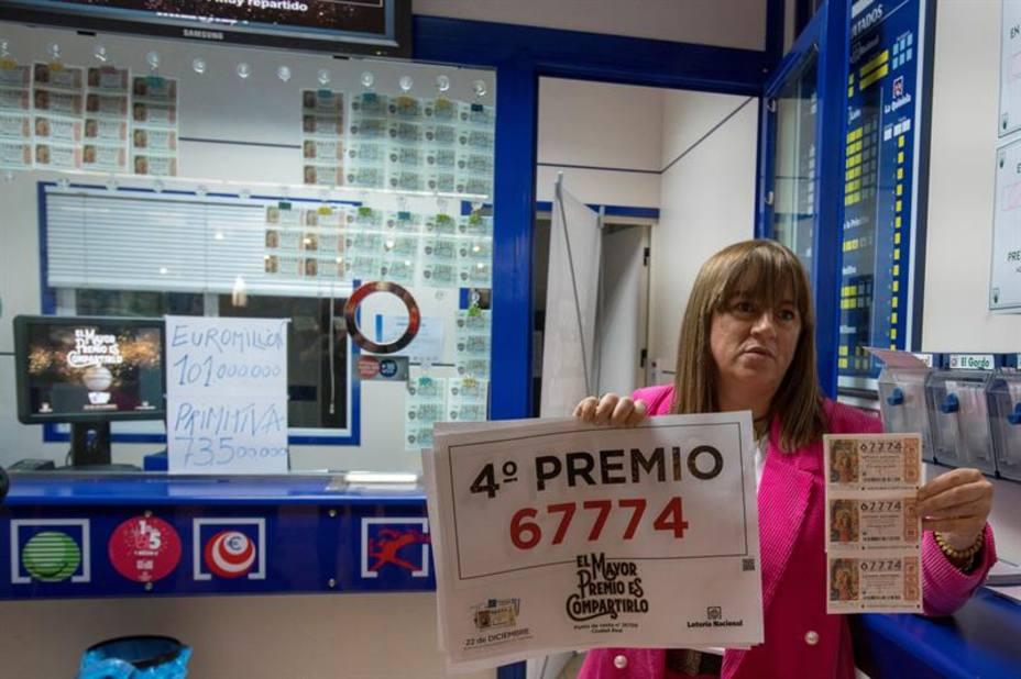 El 67.774, un segundo cuarto premio muy repartido - Lotería de ...