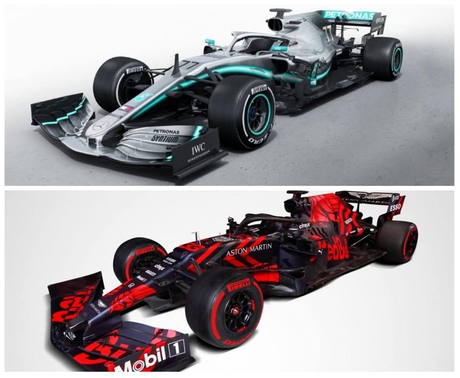 Mercedes y Red Bull desvelan el diseño de su nuevos coches para el Mundial 2019