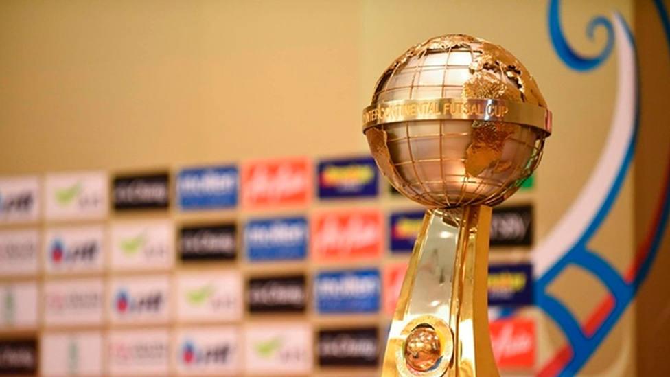 Imagen del trofeo de la Copa Intercontinental de fútbol sala