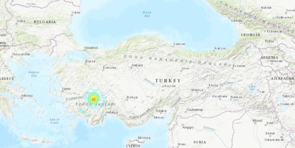 Heridas dos personas a causa de un terremoto de magnitud 6 en el suroeste de Turquía