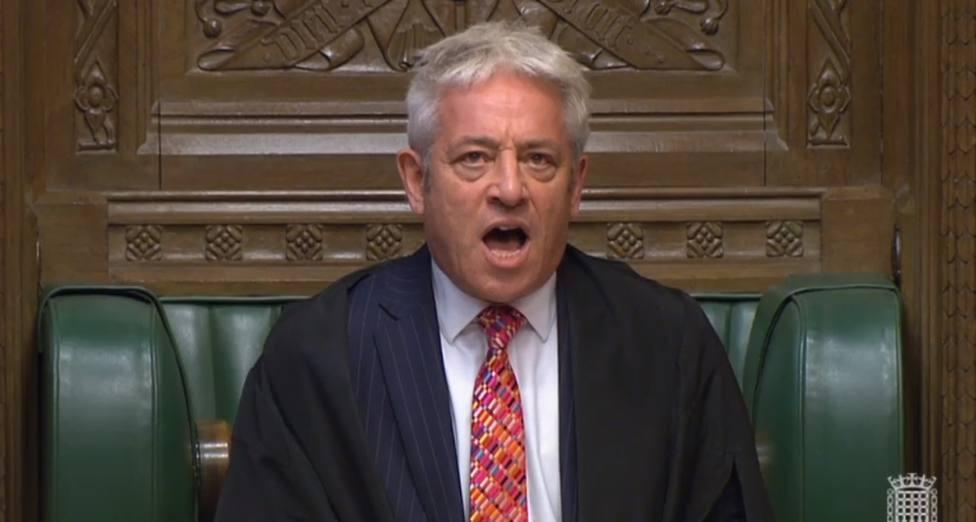 John Bercow, presidente del parlamento británico, impide que se vote el acuerdo del Brexit