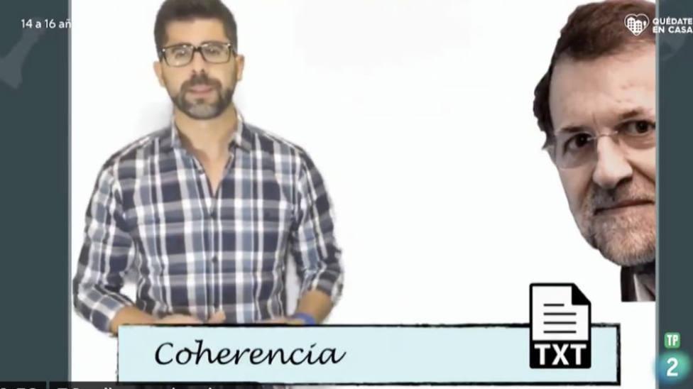 Pantallazo del programa de TVE emitido en La 2