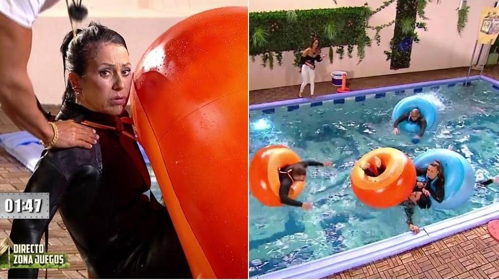 La prueba que casi termina en tragedia en La casa fuerte; Maite Galdeano al borde de ahogarse