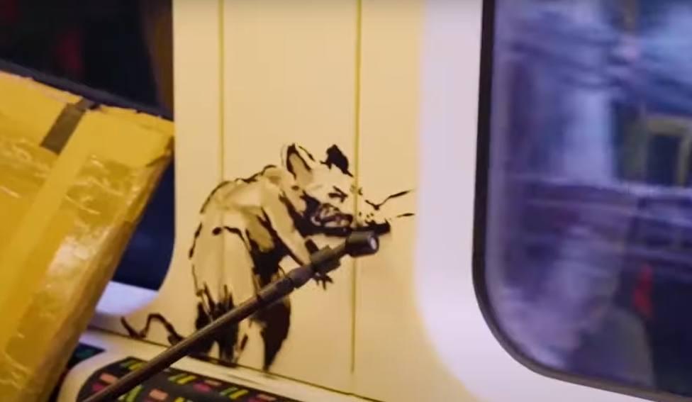 Así es el último dibujo del artista callejero Banksy para impulsar el uso de la mascarilla