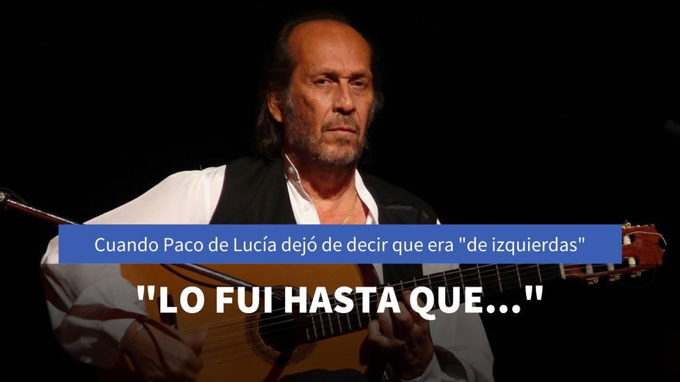 El momento a partir del que Paco de Lucía dejó de decir que era de izquierdas