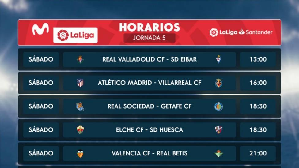 Sigue este sábado desde las 13.00h en Tiempo de Juego la 5ª jornada de LaLiga Santander