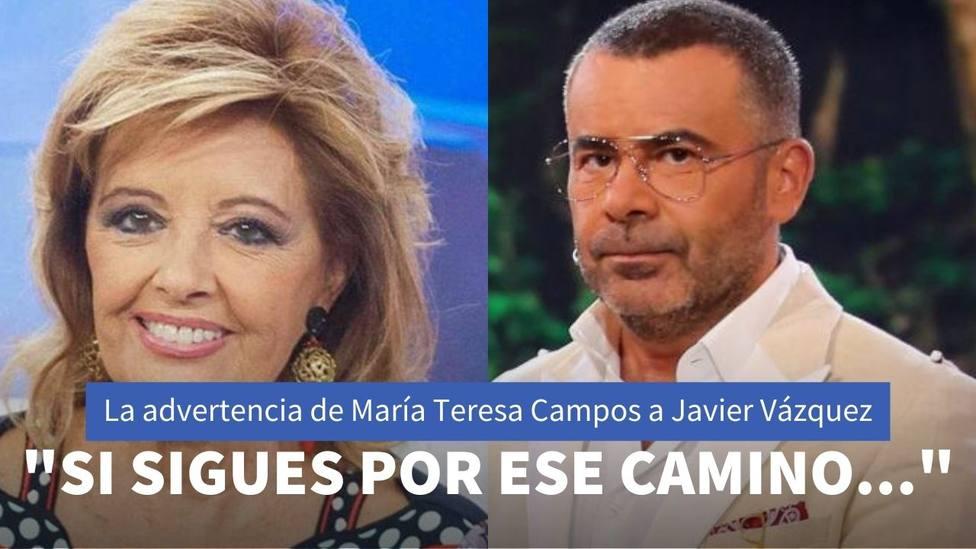 La advertencia de María Teresa Campos a Jorge Javier Vázquez que han hecho saltar las alarmas en Sálvame