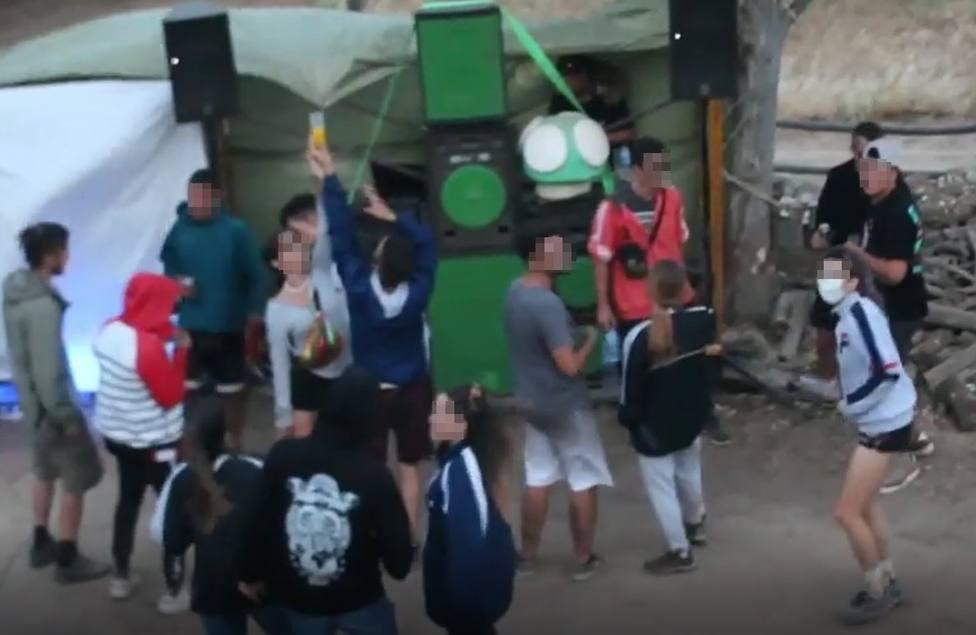 VÍDEO | Así se celebraban fiestas rave en una finca de Antequera donde no se cumplían las normas sanitarias