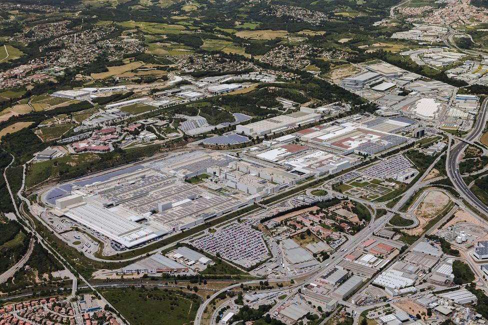 Imagen desde lo alto de la planta de Seat en Martorell.