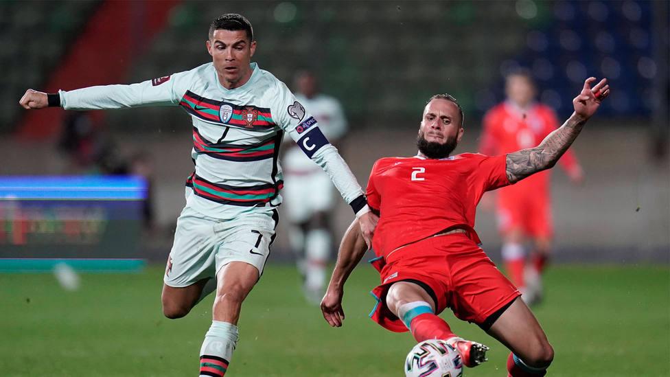 Cristiano Ronaldo durante el Luxemburgo - Portugal. CORDONPRESS