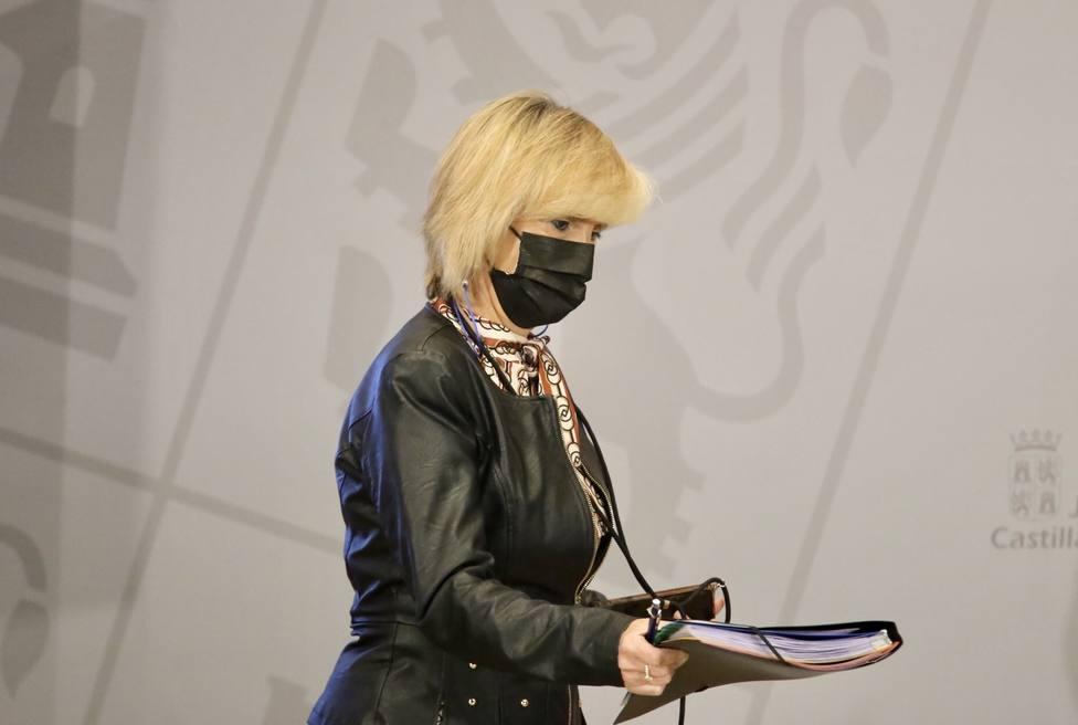 Verónica Casado durante la rueda de prensa posterior al Consejo de Gobierno extraordinario