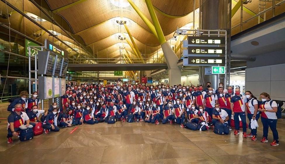 La expedición olímpica ya está en Tokio
