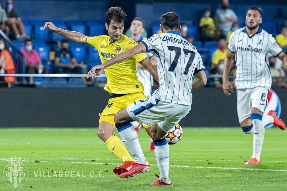 Manu Trigueros ha sido el autor del primer gol del Villarreal en la Champions League 2021/22