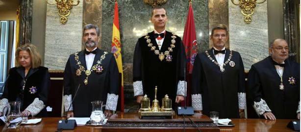 El Rey preside la apertura del Año Judicial. EFE