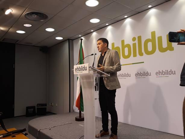 Otegi (EH Bildu) cree brutales las peticiones de cárcel para los líderes independentistas y pide enfrentarse al Estado