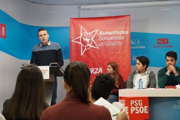 Aitor Bouza, secretario xeral de Xuventudes Socialistas de Galicia