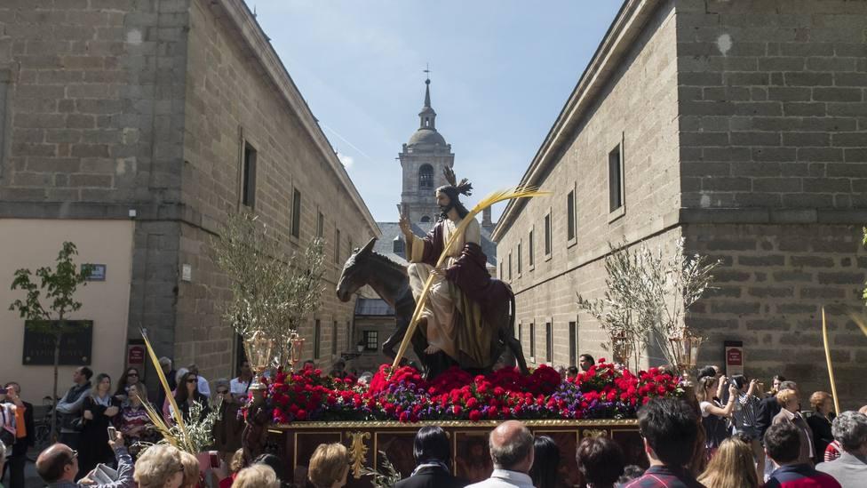 Procesión del Domingo de Ramos en San Lorenzo de El Escorial