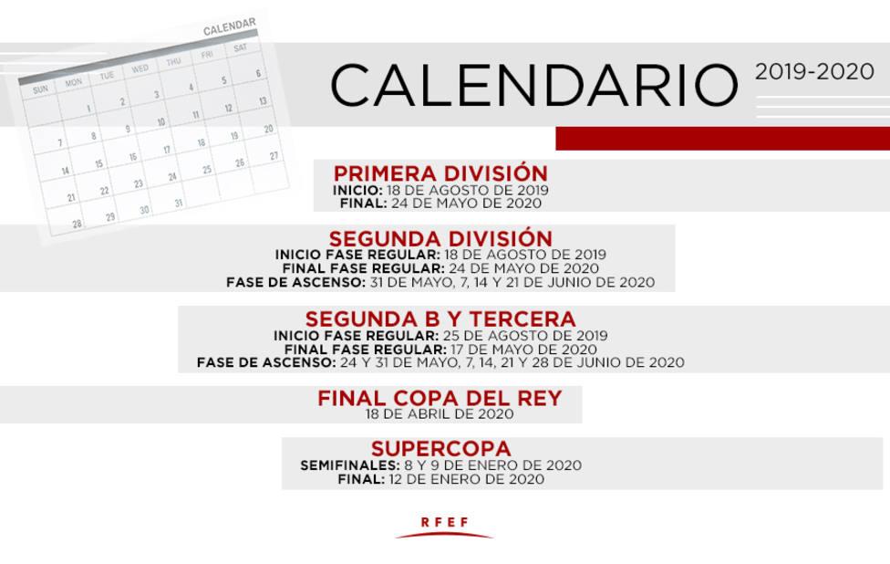 Calendario Loteria Nacional 2020.La Liga 2019 2020 Comenzara El 25 De Agosto En Segunda B Y Tercera