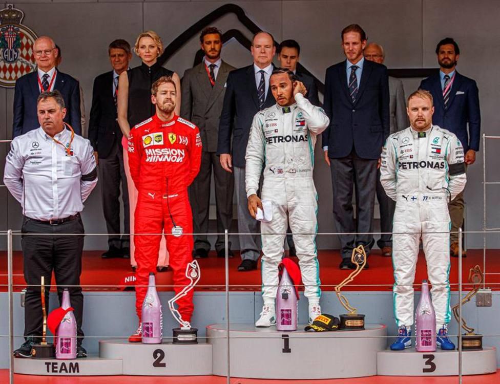 Podio GP de Mónaco 2019