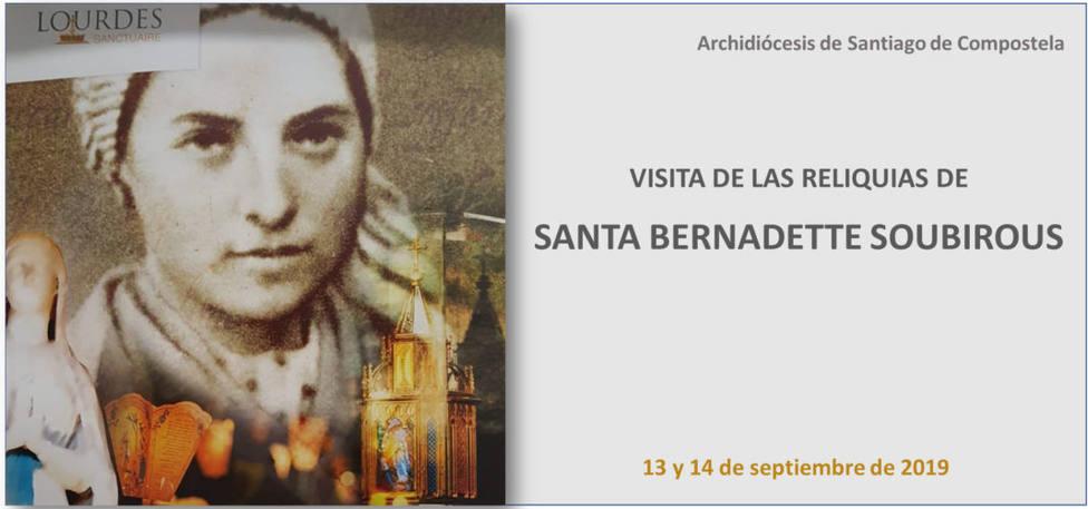 Las reliquias de Santa Bernardette, en Santiago