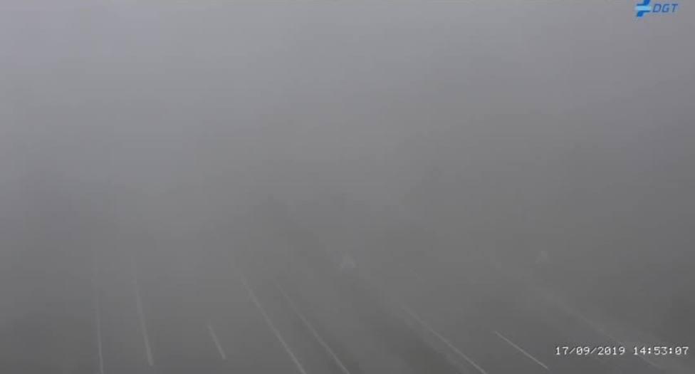 Visibilidad nula en la Autovía en el km 545 a las 14.53 hrs del martes 17 de septiembre