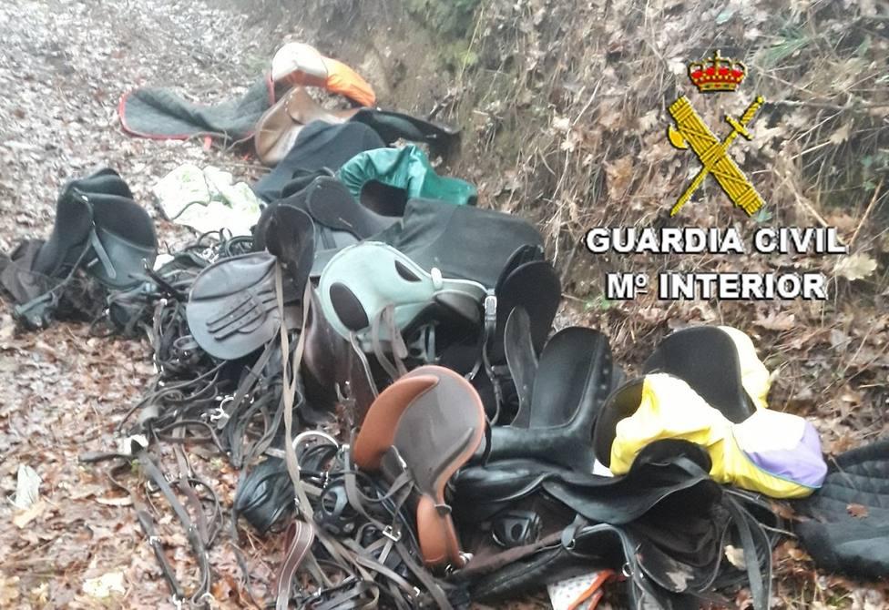 Material sustraído en un centro hípico de Mos (Pontevedra)