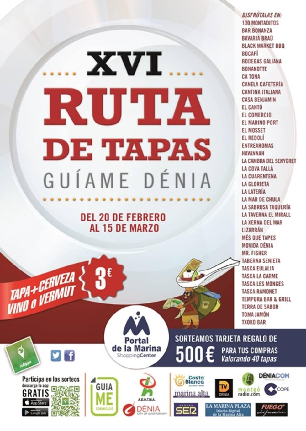 Cartel XVI Ruta de Tapas GuiaMe Dénia.