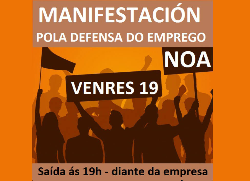Cartel de la manifestación convocada para este viernes