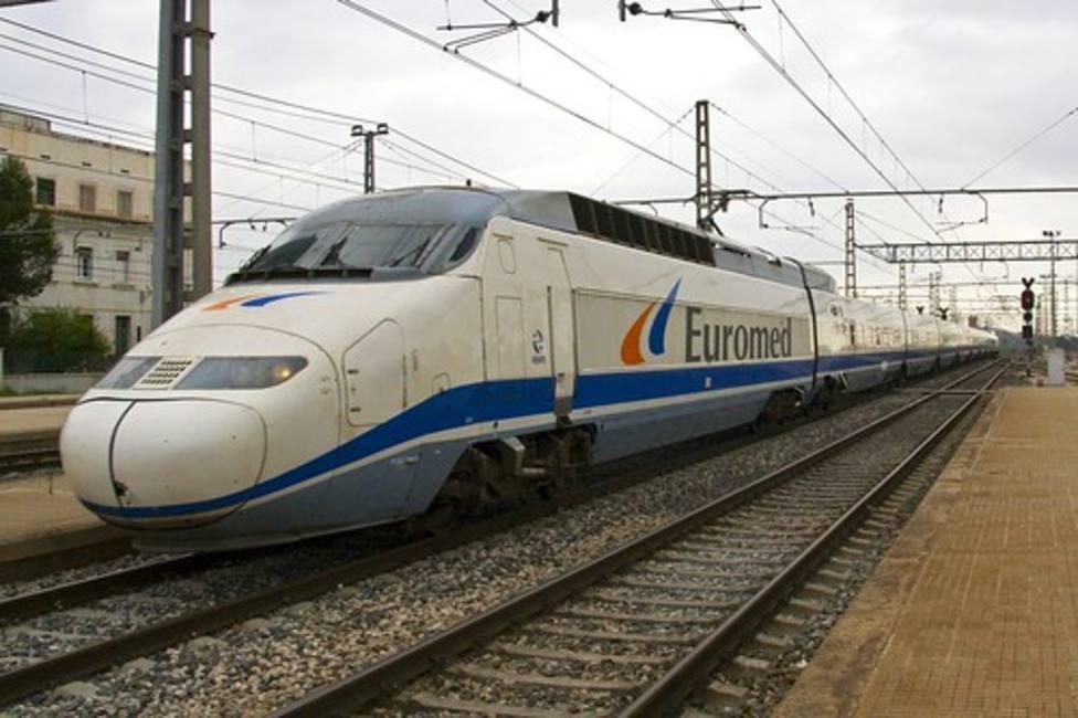 Tren Euromed que recorre la línea Barcelona-Castellón